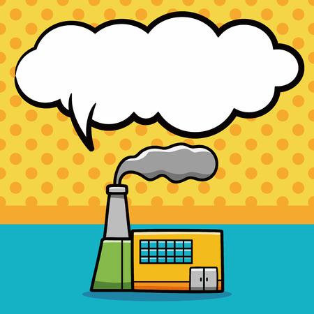 factory: factory doodle, speech bubble