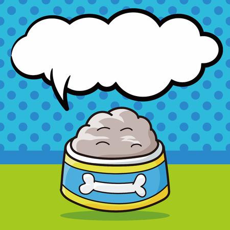quick drawing: pet bowl doodle, speech bubble