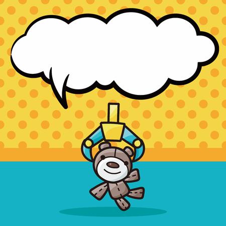 claw game doodle, speech bubble Stock Illustratie