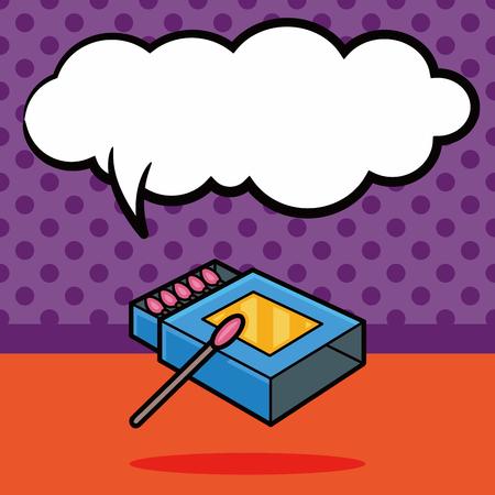 matches: Matches doodle, speech bubble