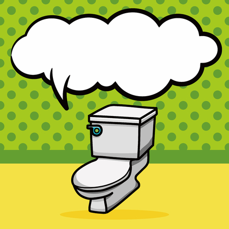 toilet doodle, speech bubble Illustration
