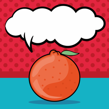 mandarin oranges: Chinese New Year Mandarin Oranges doodle, speech bubble