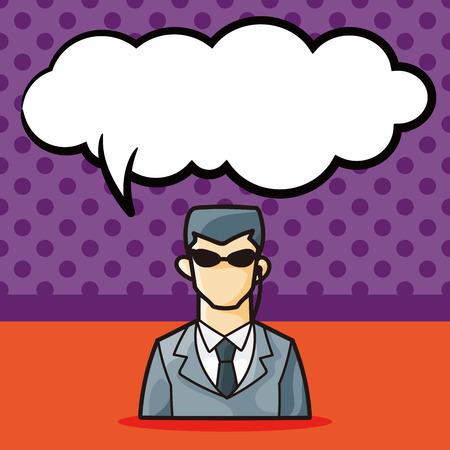 guardaespaldas: doodle de escolta, la burbuja del discurso