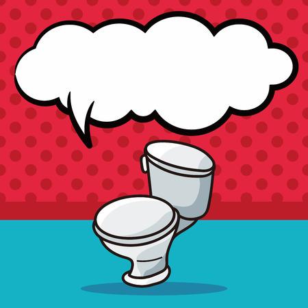 WC krabbel, tekstballon Stockfoto - 51690098