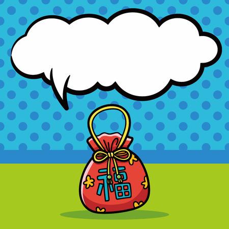 talism: Garabato talism�n chino, burbuja del discurso