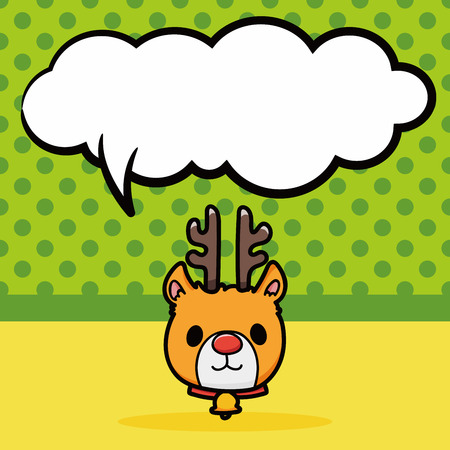 caribou: reindeer doodle, speech bubble