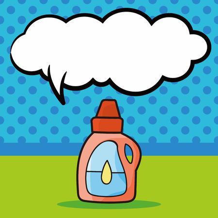 message bottle: detergent doodle, speech bubble