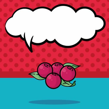 Frutas Lychee doodle, burbuja de discurso Foto de archivo - 51780679