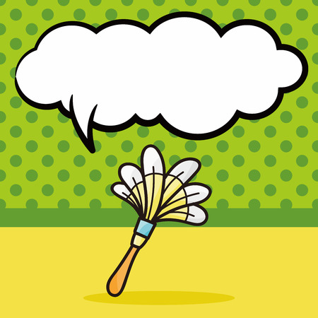duster: duster doodle, speech bubble Illustration