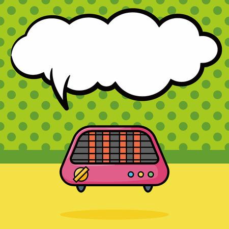 bakeware: Bakeware doodle, speech bubble Illustration