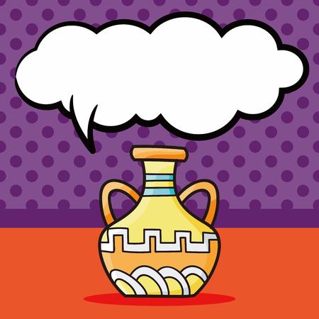 ceramics: Ceramics doodle, speech bubble Illustration
