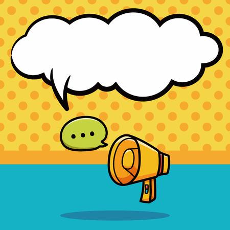 loudspeaker: loudspeaker doodle, speech bubble
