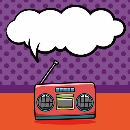 Stereo doodle, speech bubble Illustration