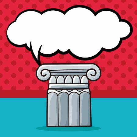 doric: Architecture doodle, speech bubble