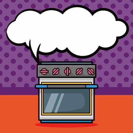 beep: oven doodle, speech bubble