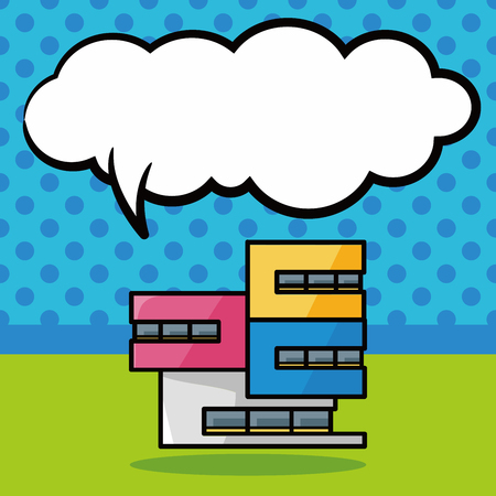 Gebäude doodle, Sprechblase
