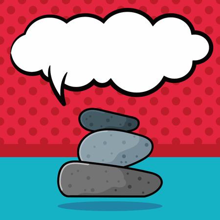 stacked stones: stone doodle, speech bubble