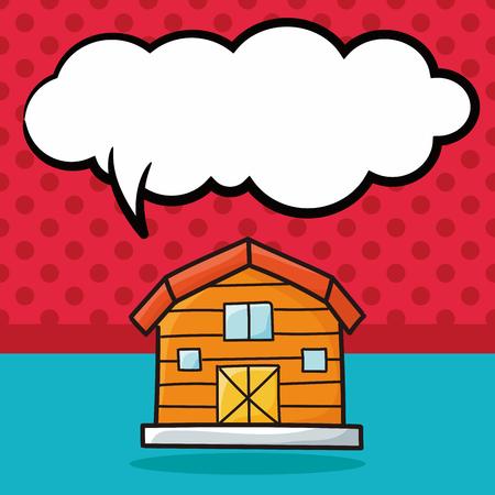 old barn: barn doodle, speech bubble