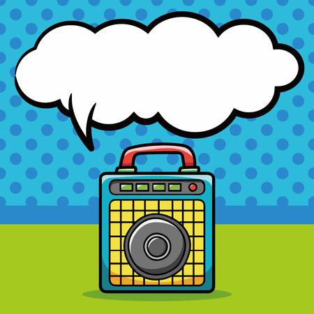 equipo de sonido: Garabato estéreo, burbuja del discurso