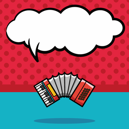 musical instrument: musical instrument Accordion doodle, speech bubble