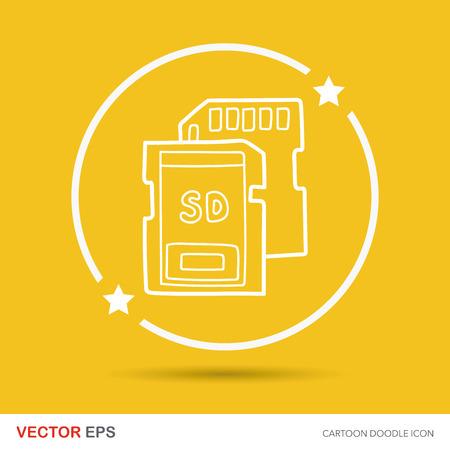 sd card: SD card doodle Illustration