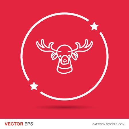 caribou: reindeer doodle