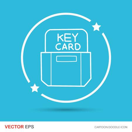 key card: hotel key card doodle