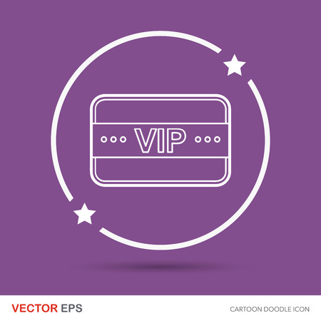 neckband: vip card doodle Illustration