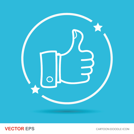 thumbs up: thumbs up color doodle Illustration