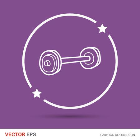 levantamiento de pesas: Doodle de Halterofilia Vectores