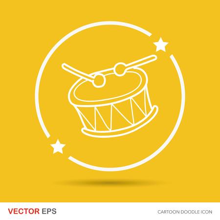 hand beats: drum doodle Illustration
