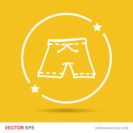 underside: short pants color doodle