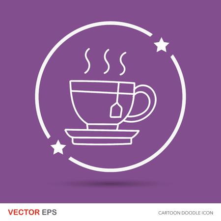 the hot: hot tea color doodle
