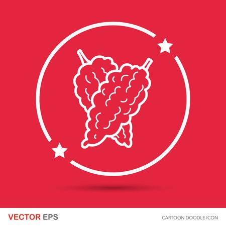 bitter: vegetable Bitter melon color doodle Illustration