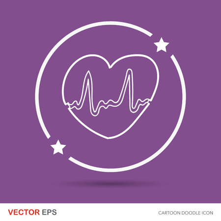 ecg: ECG color doodle Illustration