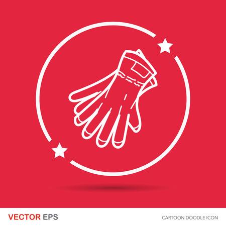 work gloves: work gloves doodle