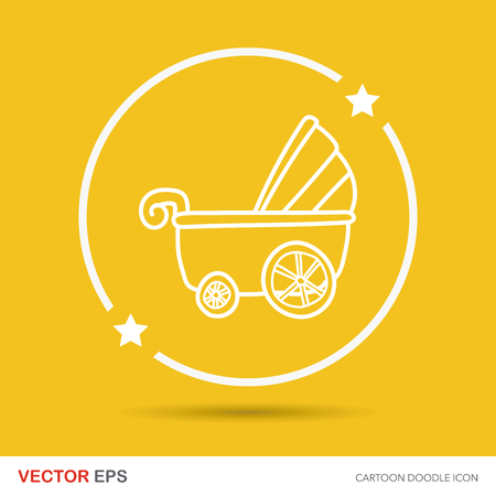 carriages: Baby carriages doodle Illustration