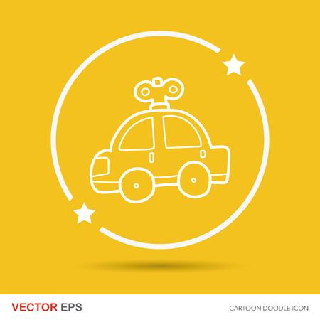 junkyard: toy car doodle Illustration