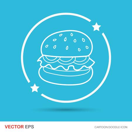 italian sausage: hamburger doodle