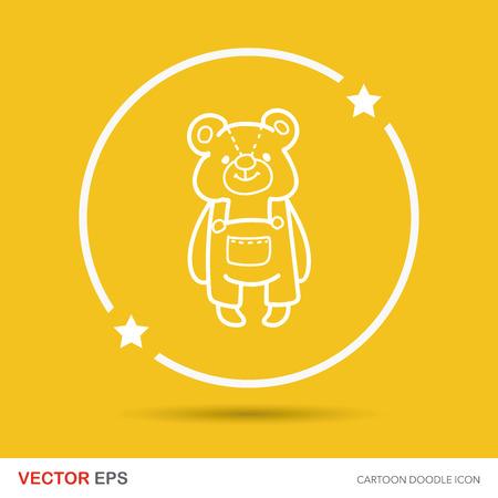 baby bear: baby bear doodle Illustration