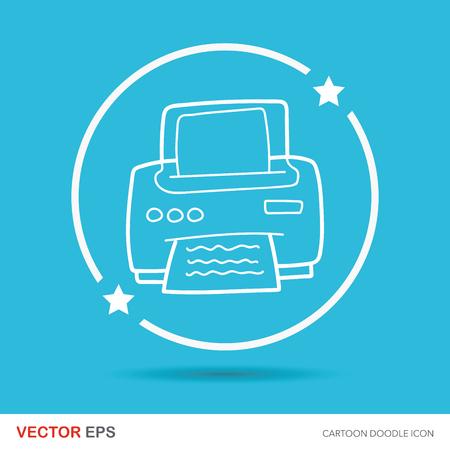 printer doodle Stock Vector - 53661721