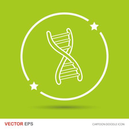 genetic material: DNA doodle