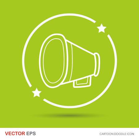 loudspeaker: loudspeaker doodle Illustration