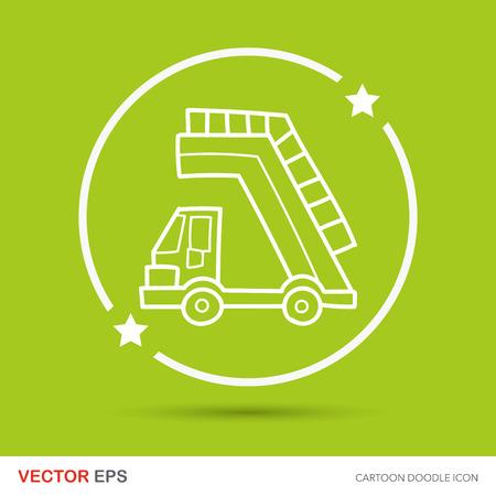 lift trucks: Lift trucks doodle