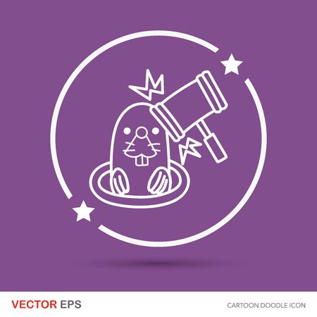 whack: Whack-a-Mole doodle Illustration