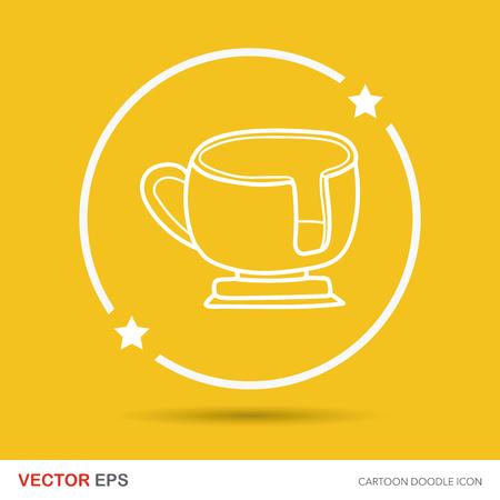 coffeecup: amusement park coffee-cup doodle