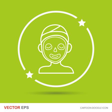 creme: Facial mask doodle Illustration