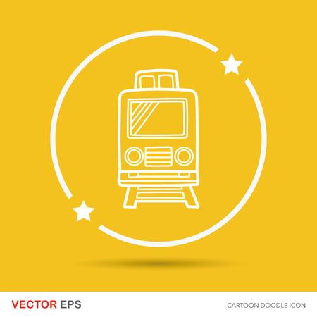 motor de carro: tren garabato Vectores