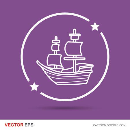 caravel: Pirate Ship doodle