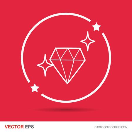 ruby stone: diamond doodle